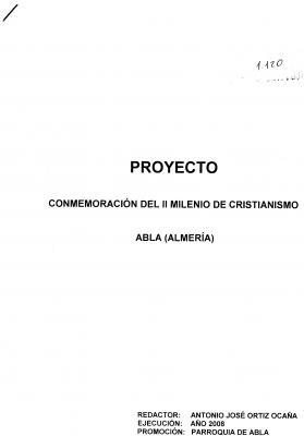 PROPUESTA CULTURAL IGLESIA DE ABLA 2008