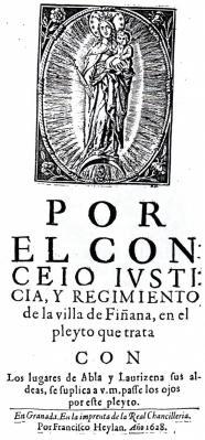 EL LITIGIO HISTÓRICO DE ABLA Y FIÑANA