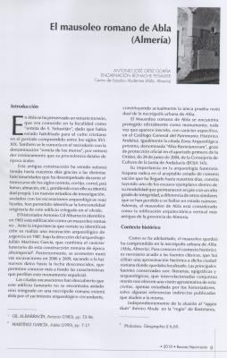 PUBLICACIÓN DEL MAUSOLEO EN LA REVISTA RÍO NACIMIENTO