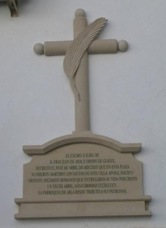 MONUMENTO MARTIRIAL A LOS PATRONOS DE ABLA